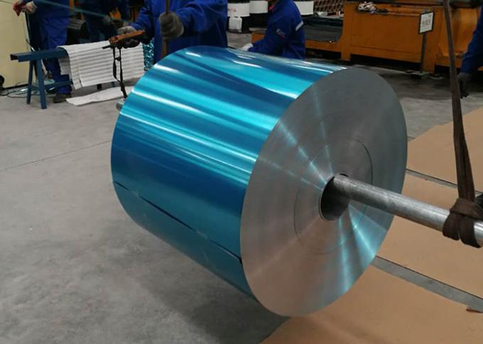 8011 Hydrophilic Coating Aluminum Foil Blue Color 0.15mm Thick For Refrigerators