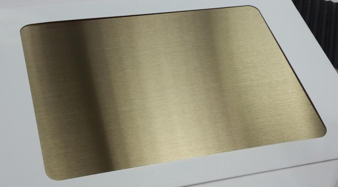 Hard Gold Anodized Aluminum Color Coated Sheet Anti - Static And Fireproof