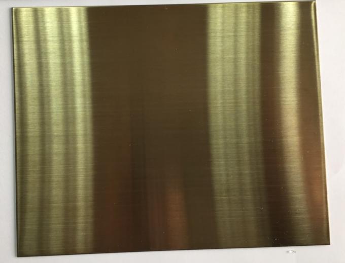 Hard Gold Anodized Aluminum Color Coated Sheet Anti